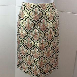 Talbots metallic pencil skirt 6